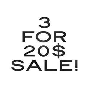 Bundle any 3 10$ items for a total of 20$!